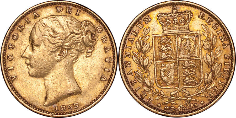 GB Victoria 1853 Sovereign