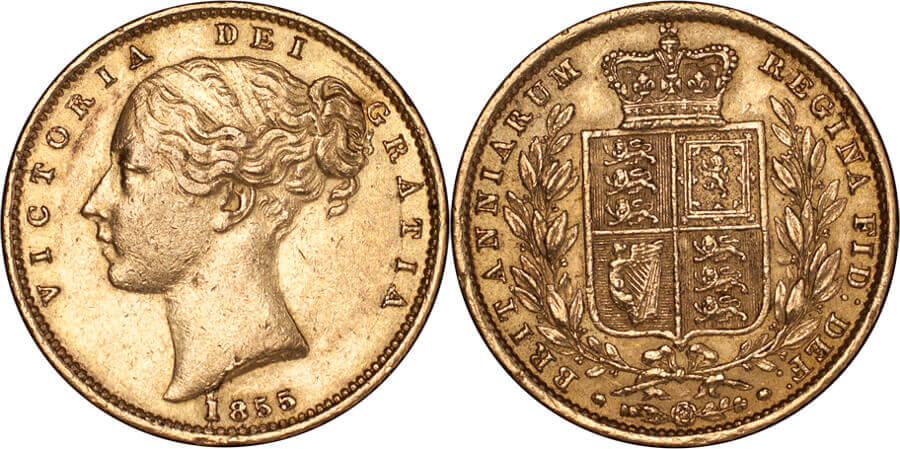 GB Victoria 1855 Sovereign WW