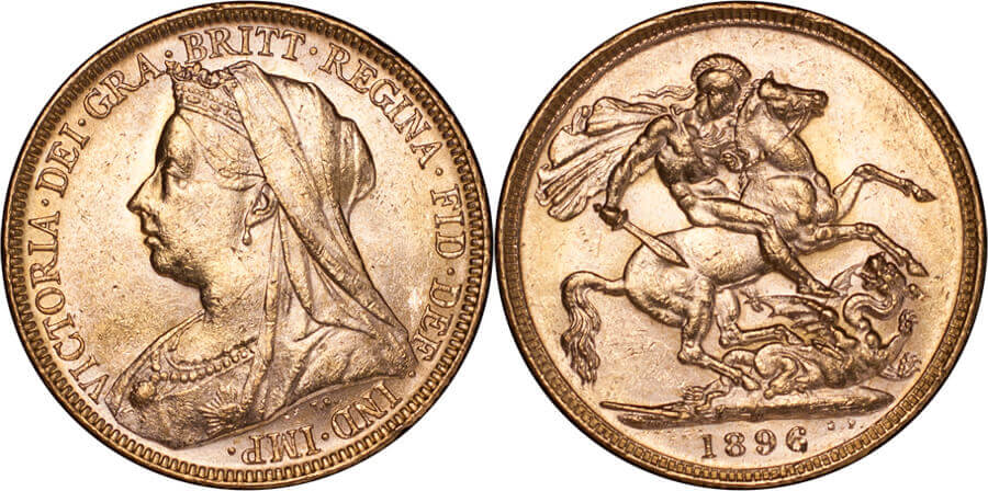 GB Victoria 1896 Sovereign