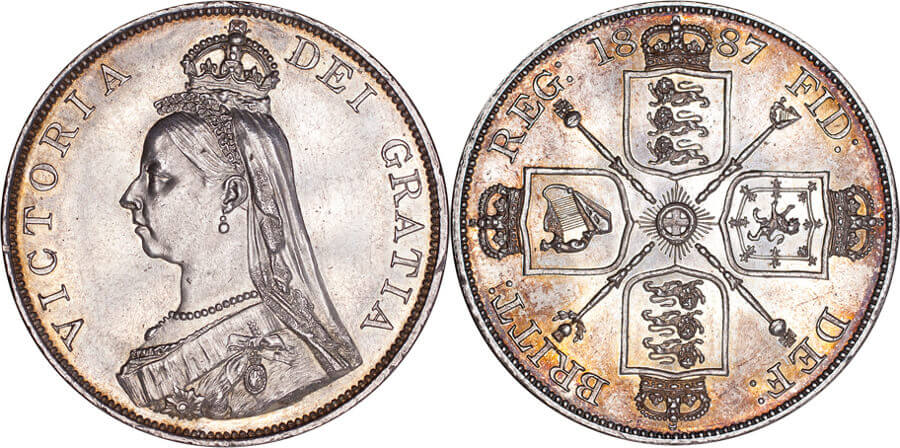 GB Victoria 1887 double frolin