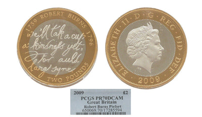 GB Robert Burns 2009 Piedfort 2pound