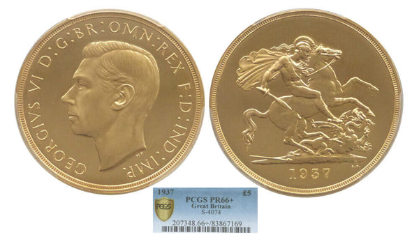 GB George VI 1937 Five Pound Sovereign
