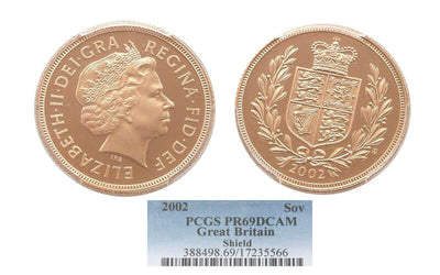 GB Elizabeth II golden jubilee Sovereign 2002