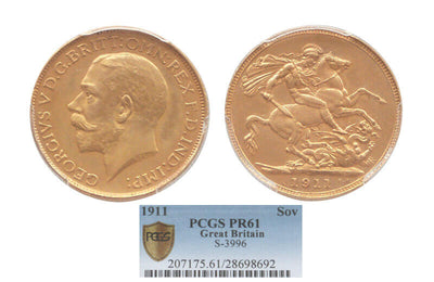GB George V 1911 Sovereign