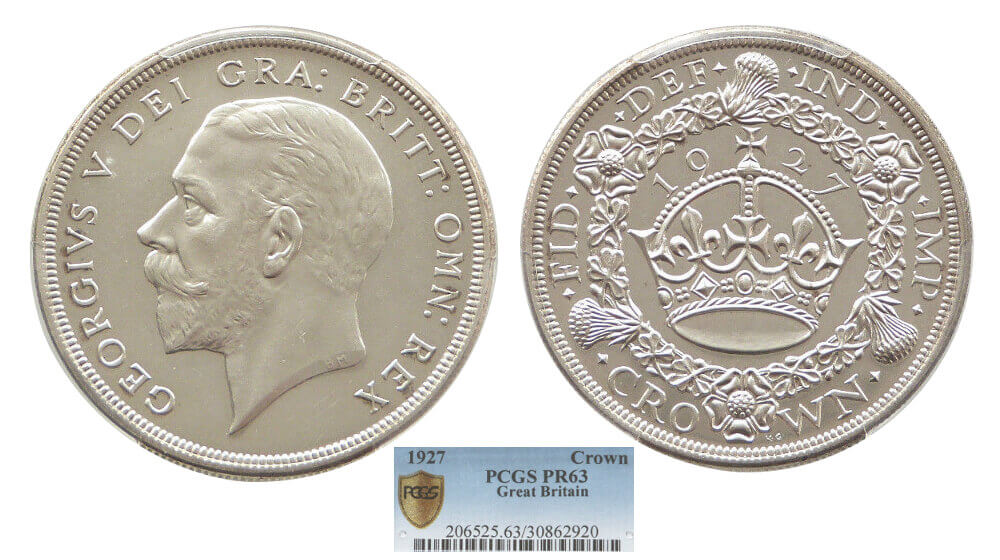 GB George V 1927 Crown