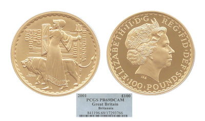 GB Britannia Una Lion 2001 100pound