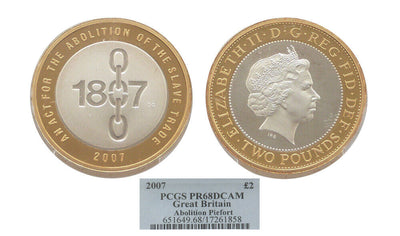 GB Abolition of Slave Trade Piedfort 2007 2pound