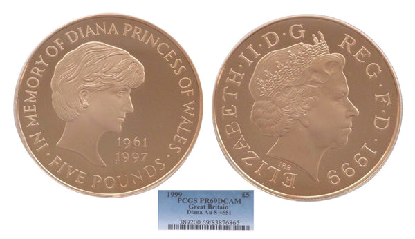 GB Lady Diana Five Pound 1999