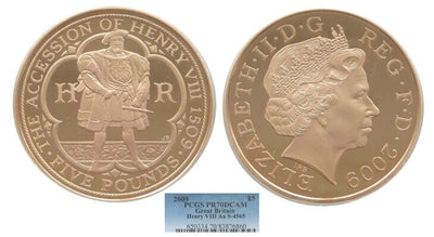 2009 King Henry VIII Accession 5pound