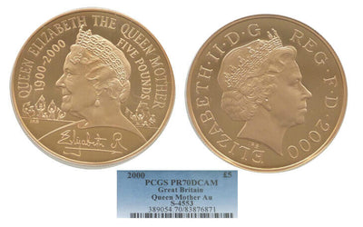 2000 Queen Mother Centenary Five Pound