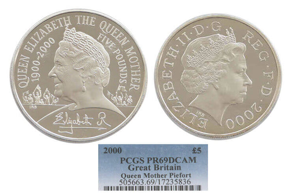 GB Queen Mother Centenary Piedfort 5pound 2000