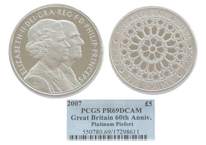 GB Diamond Wedding Piefort 5pounds Platinum 2007