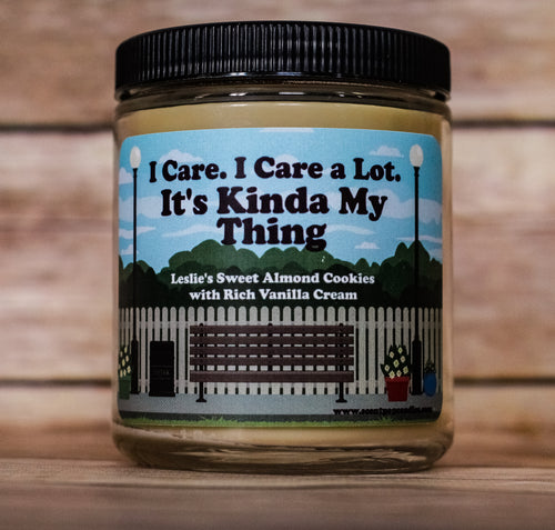 Its Kinda My Thing, Leslie Knope, Parks & Recreation Inspired Soy Candle