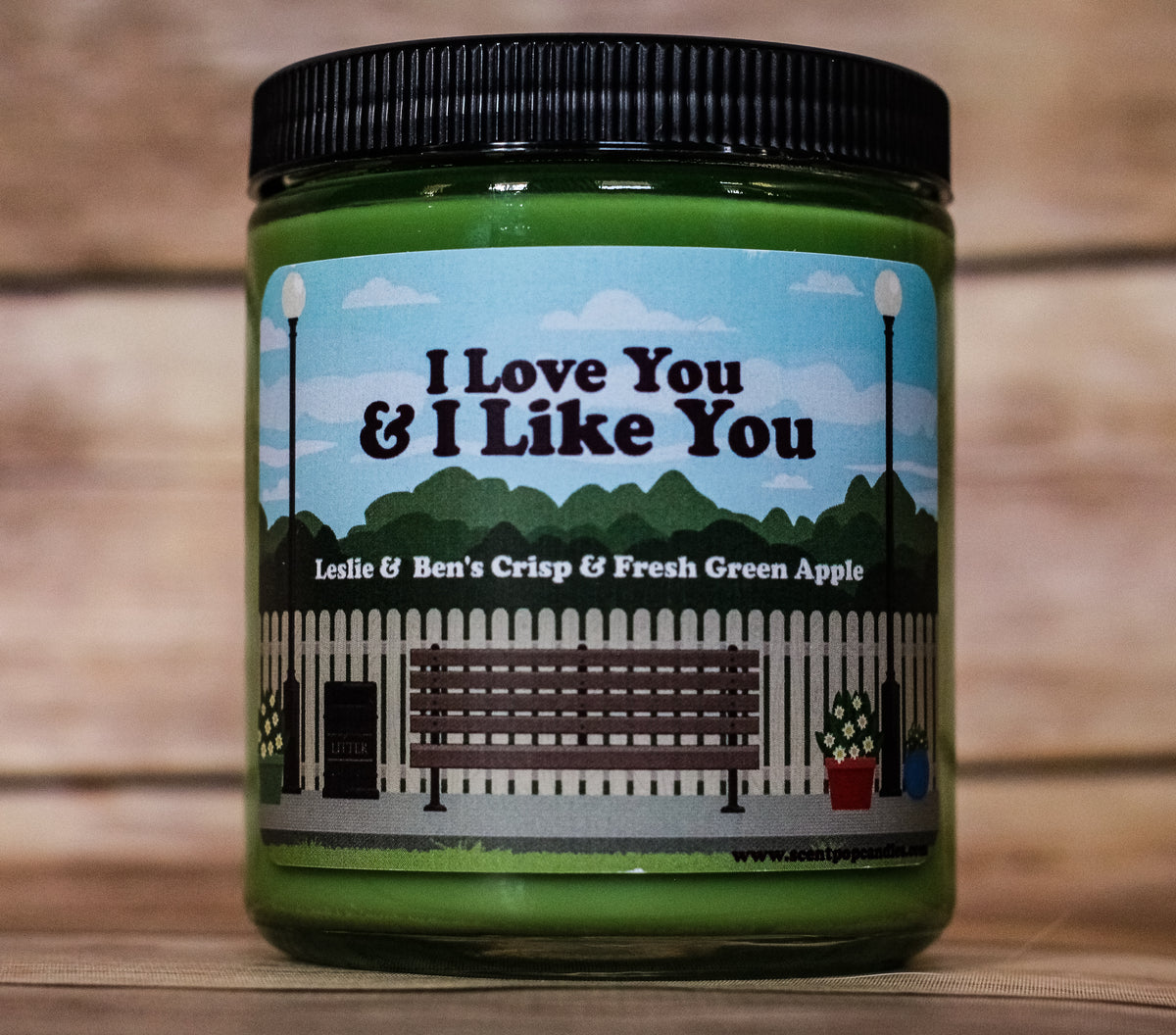 I Love You and I Like You, Leslie Knope, Ben Wyatt, Parks & Recreation Inspired Soy Candle