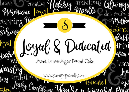 Loyal & Dedicated, Wizard Inspired Soy Candle