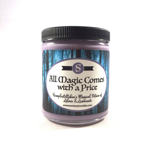 All Magic Comes With A Price, Once Upon a Time Inspired Soy Candle
