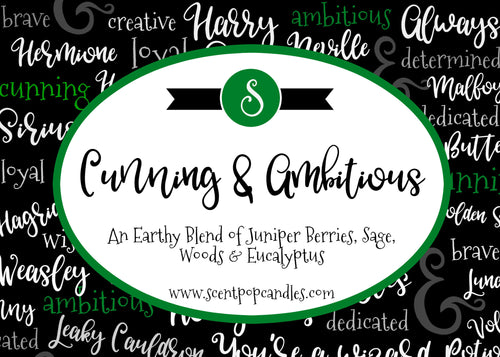Cunning & Ambitious, Harry Potter Inspired Soy Candle