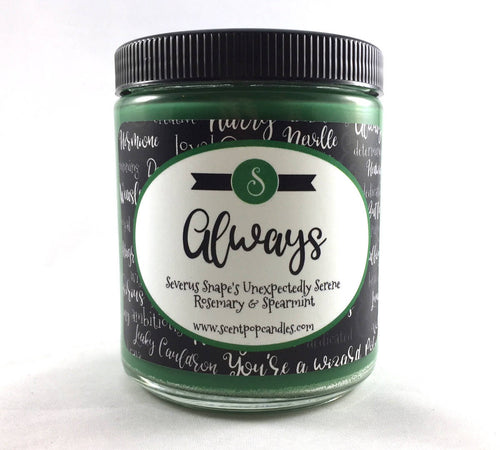 Always, Harry Potter Inspired Soy Candle