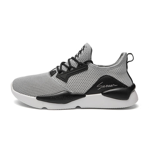 7e9a397d6a4 Low-breathable fly-woven mesh sports men s shoes
