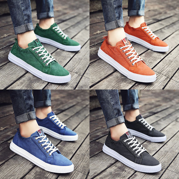 6a0876ede0a 2018 new Korean version of the trend of low-top shoes wild casual men s  shoes