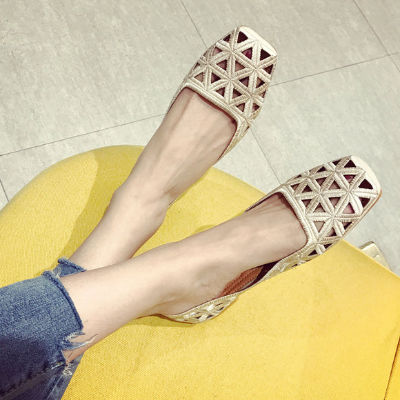 96e4a5d52c1 Women s Shoes Square Head Low Heel Single Shoes Shallow Mouth