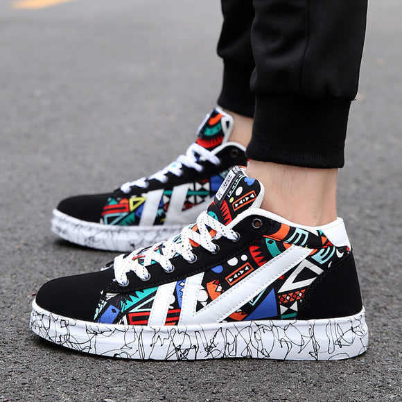 f67606358cc 2018 new ins super fire trend high to help Korean canvas shoes