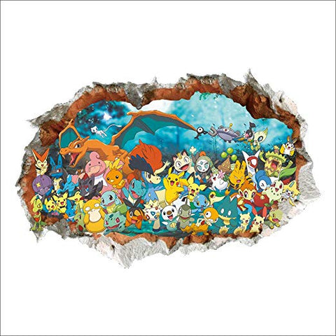 Pokemon and Friends Go Wild Surface Decal