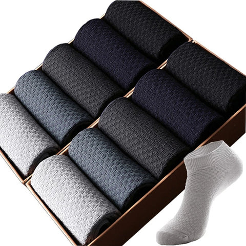 Men's Bamboo Fiber 10 Pack No Show Socks
