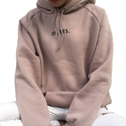 "Junior's ""Oh Yes."" Fashion Pullover Hoodie"
