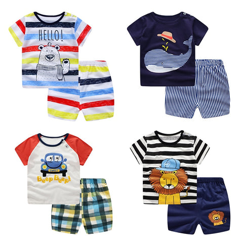 Unisex Toddler T-Shirt and Shorts 2-Piece Outfit