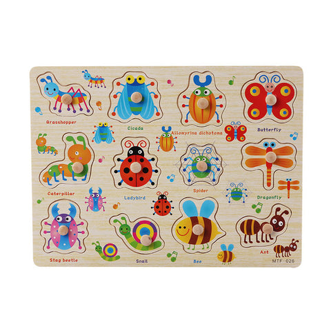 Various Toddler Peg Grab Wooden Puzzles