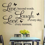 Live Laugh Love Quotes Removable Wall Decal