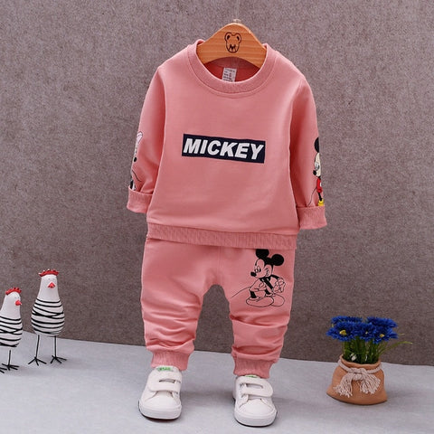 Unisex Mickey Mouse T-Shirt and Pants 2-Piece Set