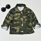 Girls Toddler and Kids Camouflage Smile Crew Army Jacket