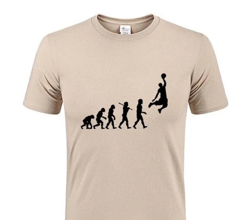 Young Mens Evolution Of Basketball T-Shirt