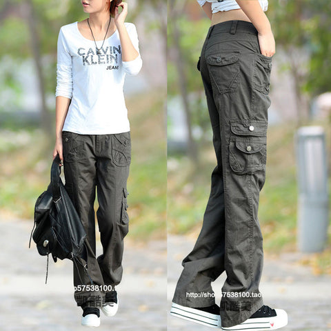 Juniors Slim Fit Casual Cargo Pants