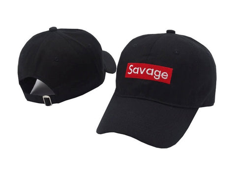 Embroidered Savage Snapback Cap