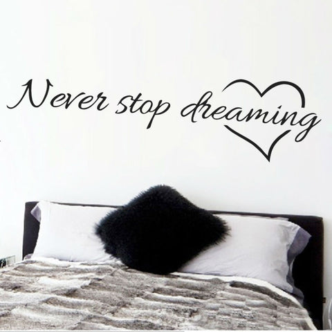 Never Stop Dreaming Surface Decal