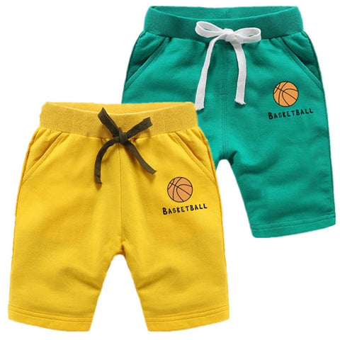 Unisex Toddler and Childrens Basketball Print Shorts