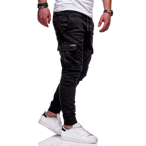 Young Men's Side Pockets Slim Fit Joggers