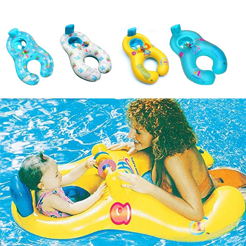 Mother Child Inflatable Swim Trainer Ring