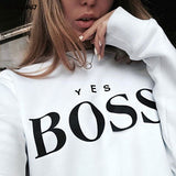 Ladies BOSS Printed Sweatshirt