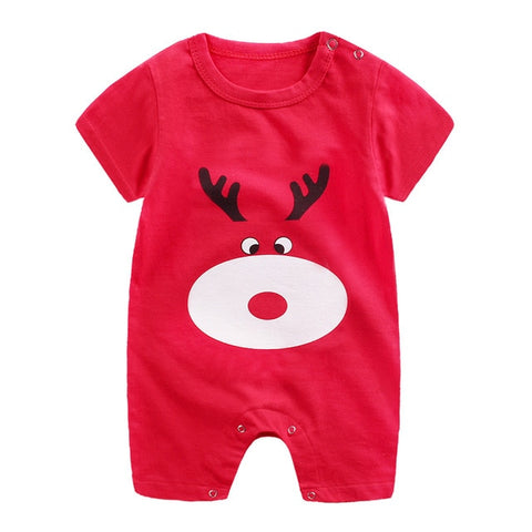Unisex 100% Cotton Short-Sleeve Character Romper