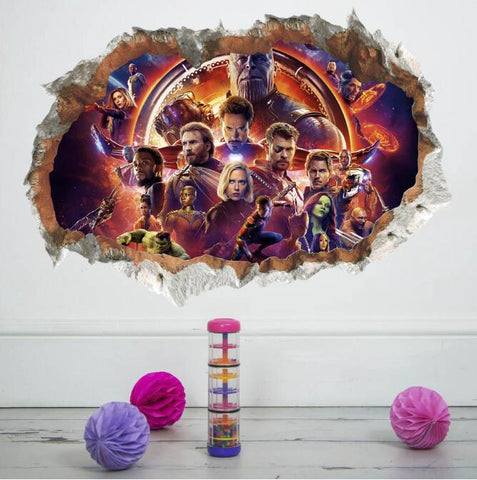 3D Avengers Reusable Surface Decal