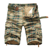Young Men's Plaid Cargo Beach Shorts