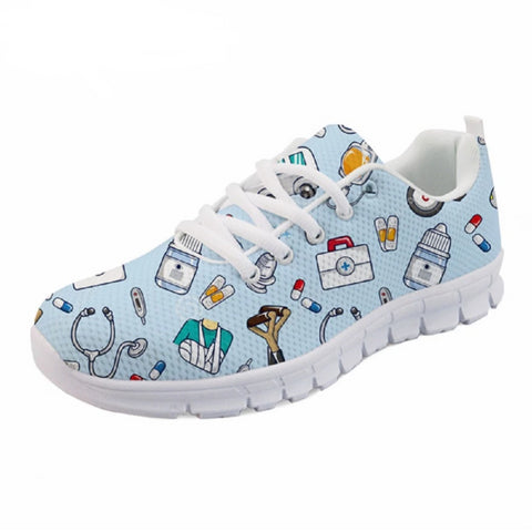 Women's Medical Fashion Lace Up Sneakers