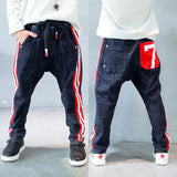 Boy's Hip Hop Fashion Denim Harem Pants