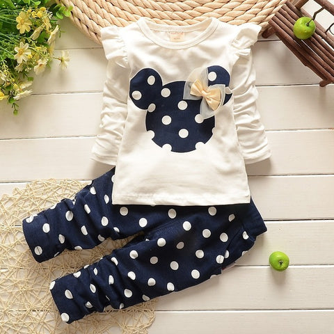 Girls infant and Toddler Mickey Mouse 2-Piece Outfit