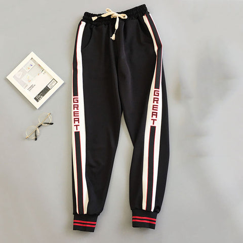 "Ladies ""Great"" Harajuku Boyfriend Fit Hip Hop Pants"