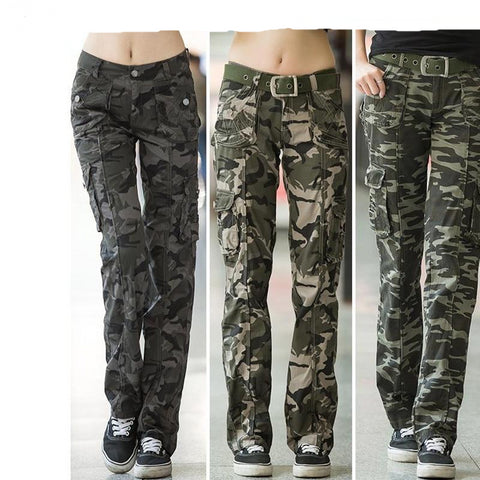 Women Military Camouflage Cargo Pants